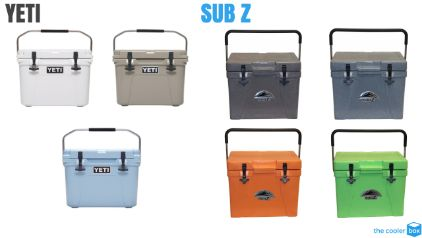 Sub Z vs Yeti Cooler Colors