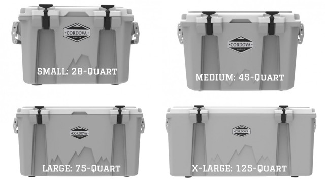 Cordova Cooler Sizes