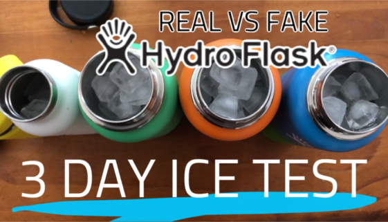 Video: Real vs Fake Hydro Flask 3 Day Ice Test - Which Holds Ice Better?