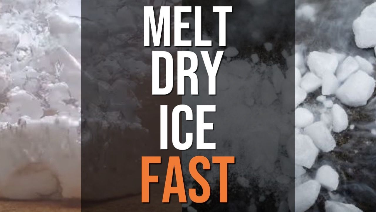 how-to-melt-dry-ice-fast